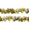 Bow Beads (Farfalle) 3.2x6.5mm Yellow Labrador Transparent
